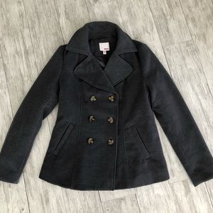 Bongo Gray Double Breasted Pea Coat